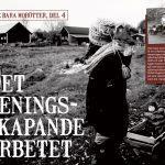 """Reportaget """"Det meningsskapande arbetet"""" i Tidningen Åter 1/19"""
